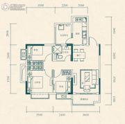 恒大世纪城3室2厅1卫76平方米户型图