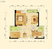 沱东印象2室2厅1卫69平方米户型图
