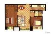 深业滨江半岛2室1厅1卫85平方米户型图