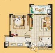 龙门御城1室1厅1卫51平方米户型图