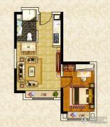 南昌恒大名都1室1厅1卫52--53平方米户型图