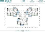 世荣碧水岸二期3室2厅2卫103--110平方米户型图