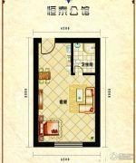 恒泰公馆1室1厅1卫33平方米户型图