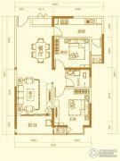 万秀城2室2厅1卫92平方米户型图