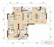 万科汉阳国际3室2厅1卫94平方米户型图