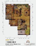 国兴北岸江山3室2厅2卫105平方米户型图