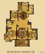金鼎名府3室2厅2卫132平方米户型图