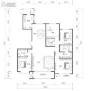 名都和景4室2厅3卫193平方米户型图