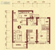 恒大山水城3室2厅1卫96平方米户型图