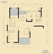 保利香槟国际3室2厅2卫103平方米户型图