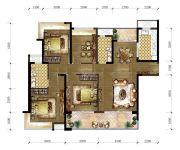 东城温泉里4室2厅2卫152平方米户型图