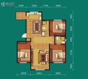 九鼎翼龙华庭3室2厅2卫132平方米户型图