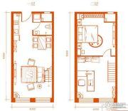 梦想公馆1室2厅1卫0平方米户型图