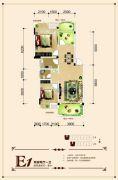 联发・君澜天地2室2厅1卫83平方米户型图