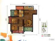 万科魅力之城3室2厅3卫105平方米户型图