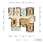 中核・半岛城邦3室2厅2卫123平方米户型图