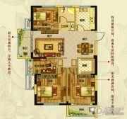 钱江绿洲4室3厅1卫127平方米户型图