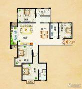瑞星花园4室2厅2卫168平方米户型图