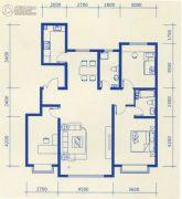 蓝爵3室2厅2卫1平方米户型图