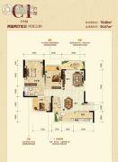 奥园盘龙壹号2室2厅2卫0平方米户型图