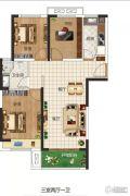 东润玺城3室2厅1卫98平方米户型图