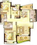 万科里享水韵3室2厅2卫119平方米户型图