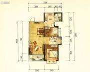 昆明・恒大名都2室2厅1卫79平方米户型图