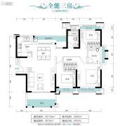 朗宁郡3室2厅2卫110平方米户型图
