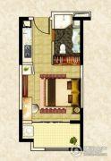 南昌恒大名都1室1厅0卫46平方米户型图