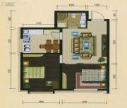 十三街区2室1厅1卫64平方米户型图