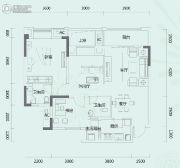 悦中心3室2厅2卫91平方米户型图