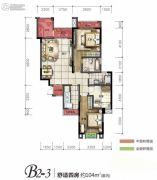 旭阳台北城敦美里4室2厅2卫104平方米户型图