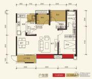 保利玫瑰花语3室2厅2卫95平方米户型图