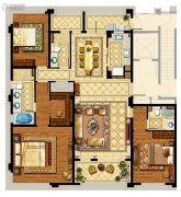 中企艮山府3室2厅3卫200平方米户型图