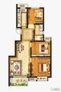 中垠紫金观邸3室2厅1卫89平方米户型图