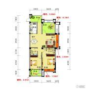海御新天地2室2厅2卫106平方米户型图