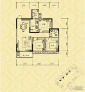 长江国际社区巴塞罗那庄园3室2厅1卫97平方米户型图