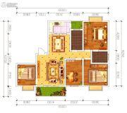 磁湖南郡4室2厅2卫123平方米户型图