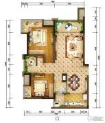 重庆巴南万达广场2室2厅1卫88平方米户型图