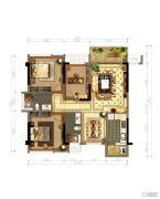 保利心语3室2厅2卫97平方米户型图