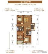 华仪香榭华庭3室2厅2卫122--126平方米户型图