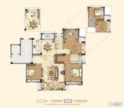 祥生悦山湖3室2厅2卫136平方米户型图