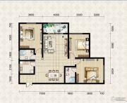 翱达公馆3室2厅2卫116平方米户型图