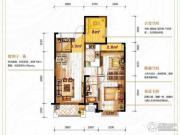 保利香槟国际2室2厅1卫94平方米户型图