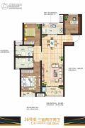 国润城3室2厅2卫108平方米户型图