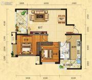福庆花雨树2室2厅1卫92平方米户型图