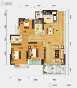 一城悦府3室2厅2卫106平方米户型图