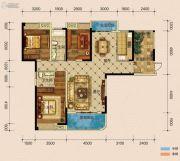 半山�庭3室2厅2卫140平方米户型图