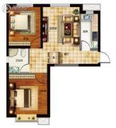 天昱・凤凰城2室2厅1卫79--80平方米户型图