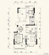 万达西双版纳国际度假区2室2厅1卫88平方米户型图
